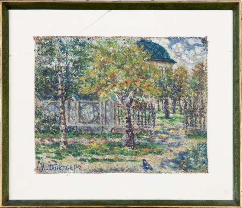 נוף עם עצי שקד