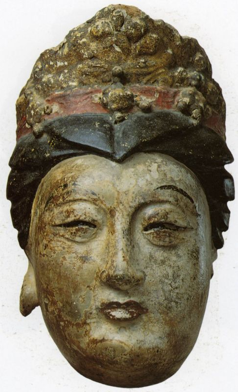 Head of a bodhisattva, perhaps Guanyin