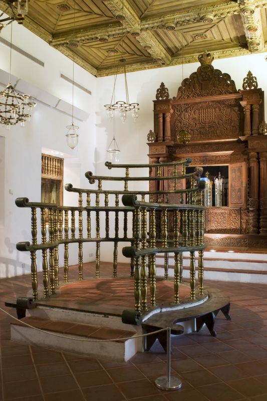 Interior of the Kadavumbagam synagogue