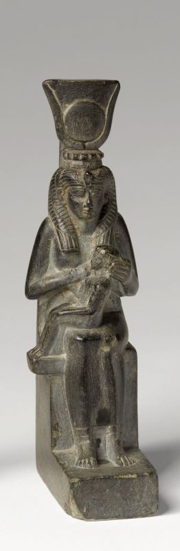 Statuette of Isis as mother and protector of Horus the child