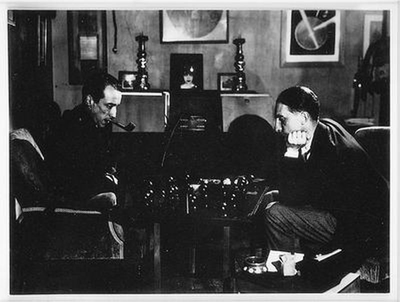 Duchamp Playing Chess with Raoul de Roussy
