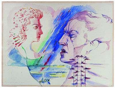 Portrait of André Breton and Jacqueline Lamba