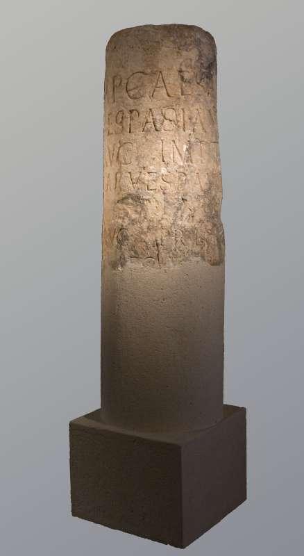 Latin inscription on a milestone