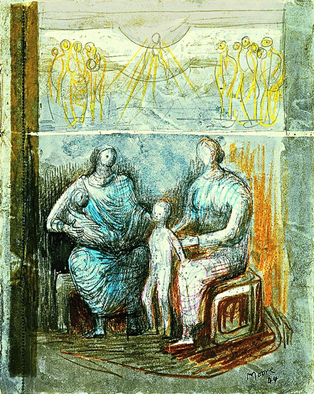 Two Women and Children