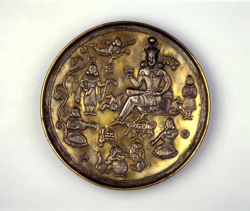 Plate depicting a drinking party in the Sassanian-Persian Style