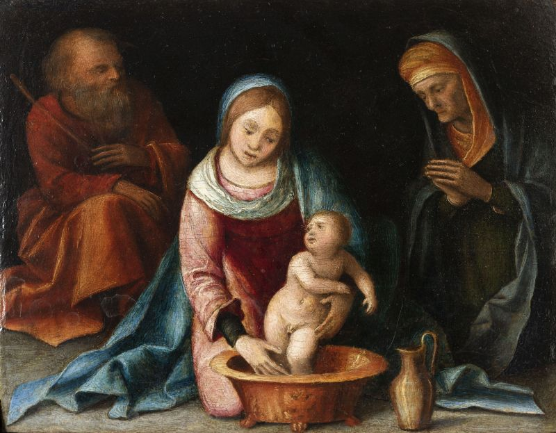 The Holy Family: The Child Being Bathed