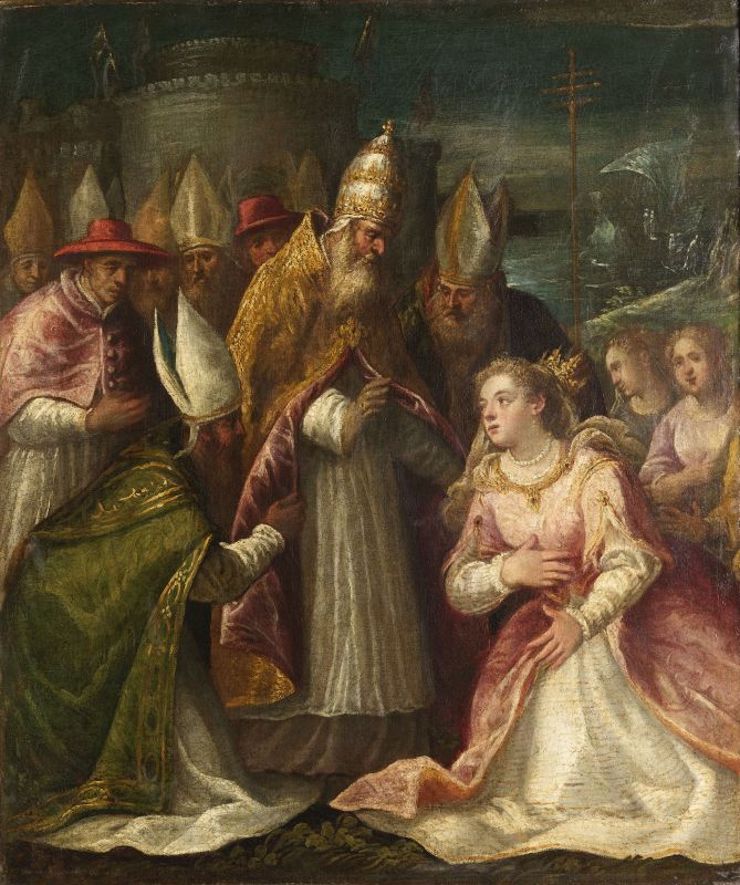 St. Ursula and the Virgins Before Pope Cyrianus