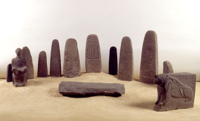 """Cultic objects from the """"Shrine of the Stelae"""""""