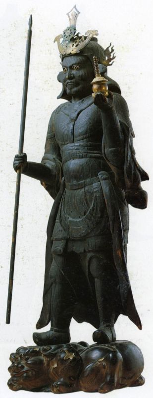 Tamonten, Guardian of the North, one of the Four Guardian Kings of the Four Directions