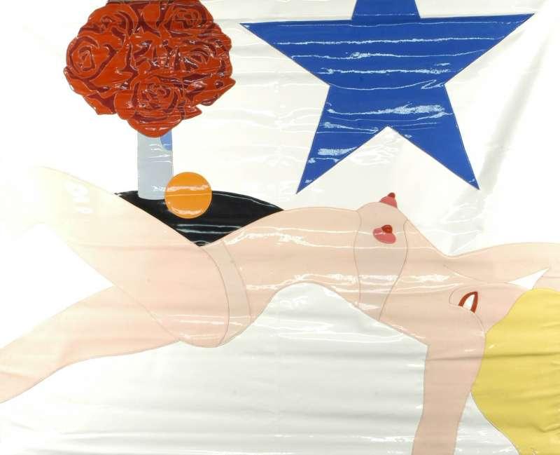 עירומה עם דגל