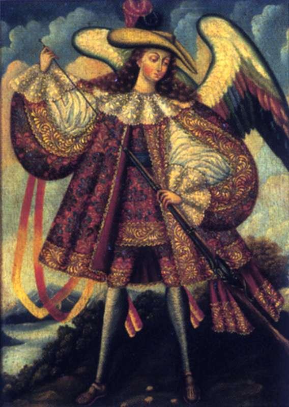 רב-מלאך אוחז מוּסקֶט (רובה ישן)