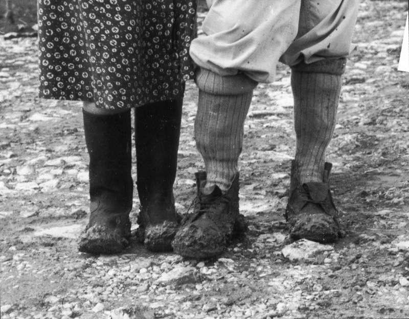 Kibbutz Members' Feet in Winter