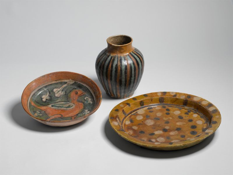 Jar, dish and bowl made in Egypt