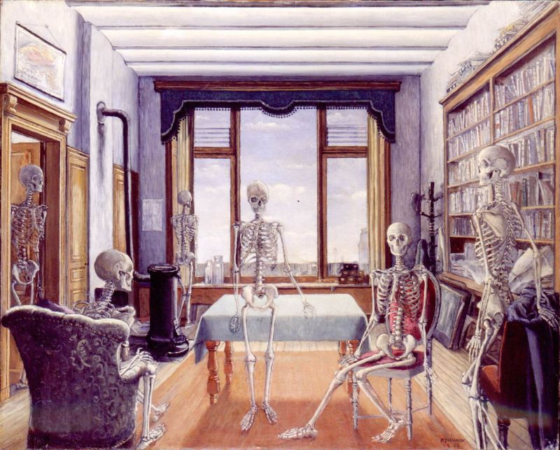 Waiting for the Liberation (Skeletons in an Office)