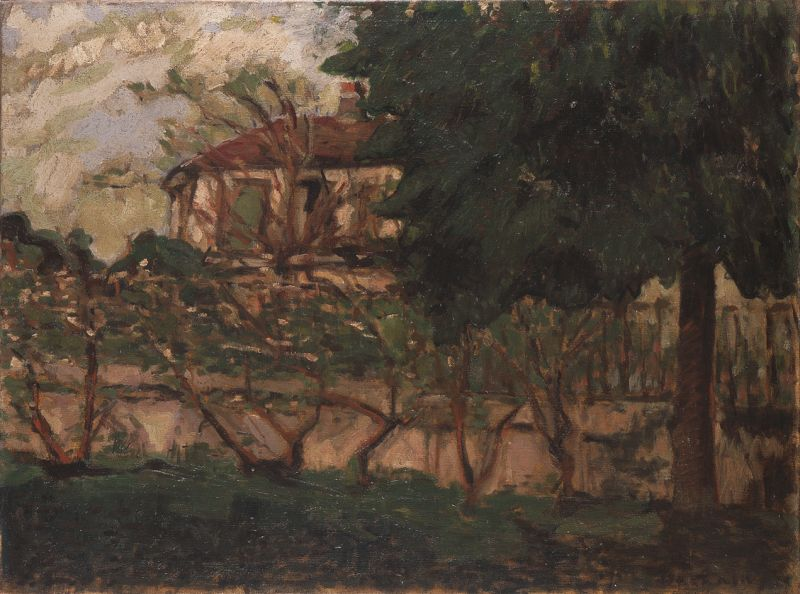 House among Apple Trees