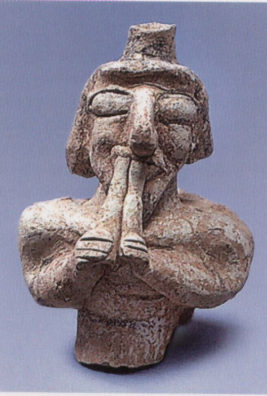 Double-flute player