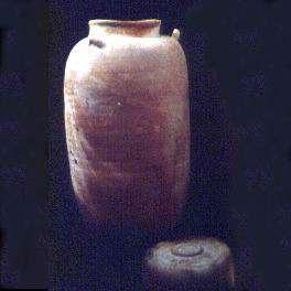 Jar in which scrolls were concealed