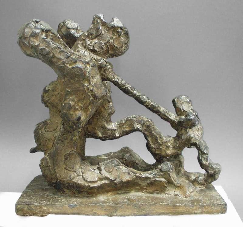 David and Goliath: Maquette No. 3