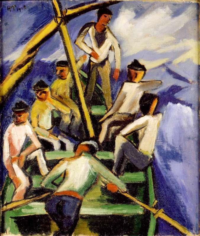 דייגים בסירה