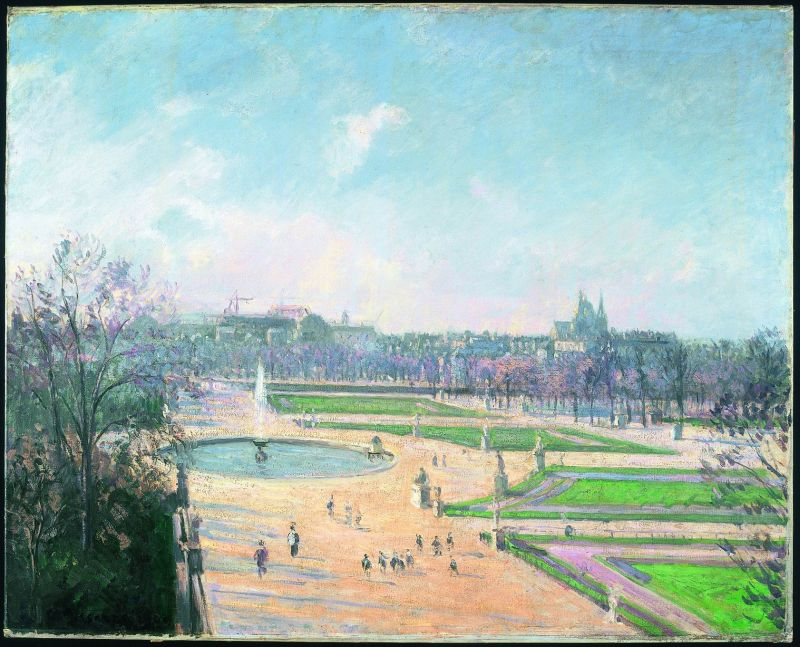 The Tuileries Gardens, Afternoon, Sun