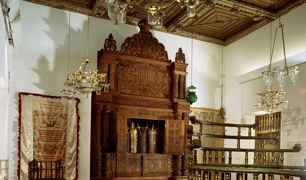 The Kadavumbagam synagogue from the town of Cochin
