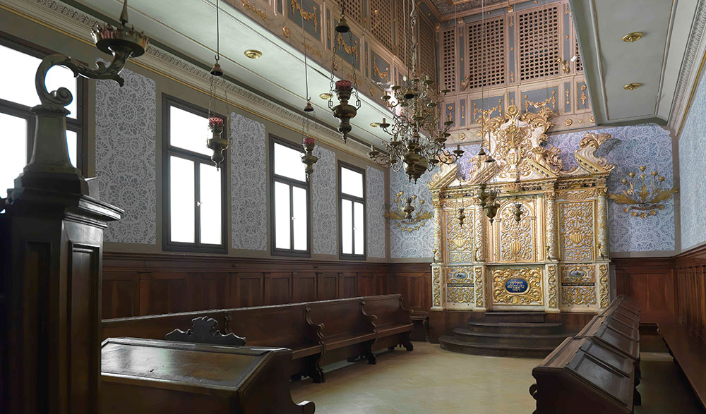 The synagogue from Vittorio Veneto, a small town in northern Italy