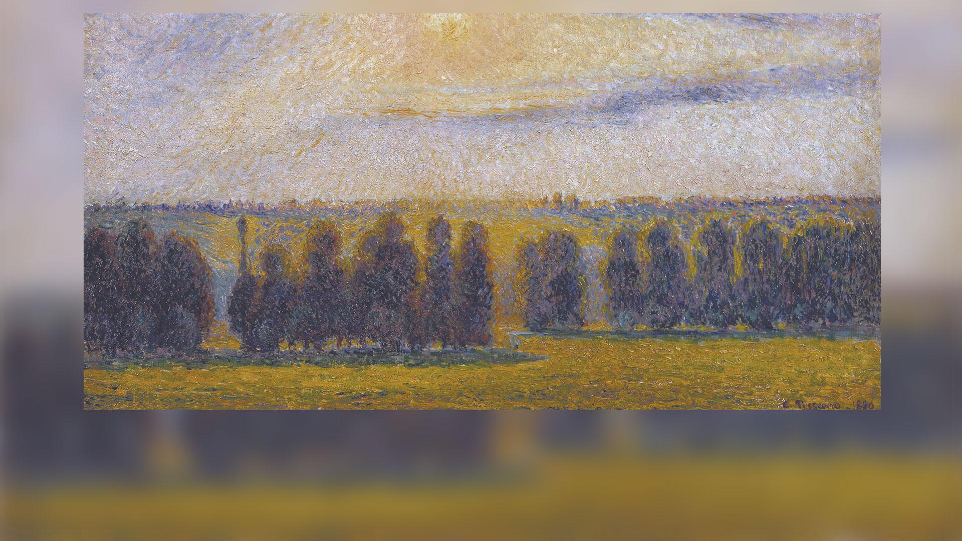 Pissarro, Camille, Sunset at Eragny, 1890