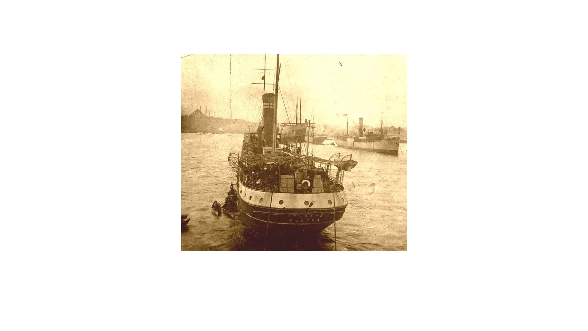 """והספינה שטה<br>חלוצי תרבות על סיפון ה""""רוסלאן"""""""