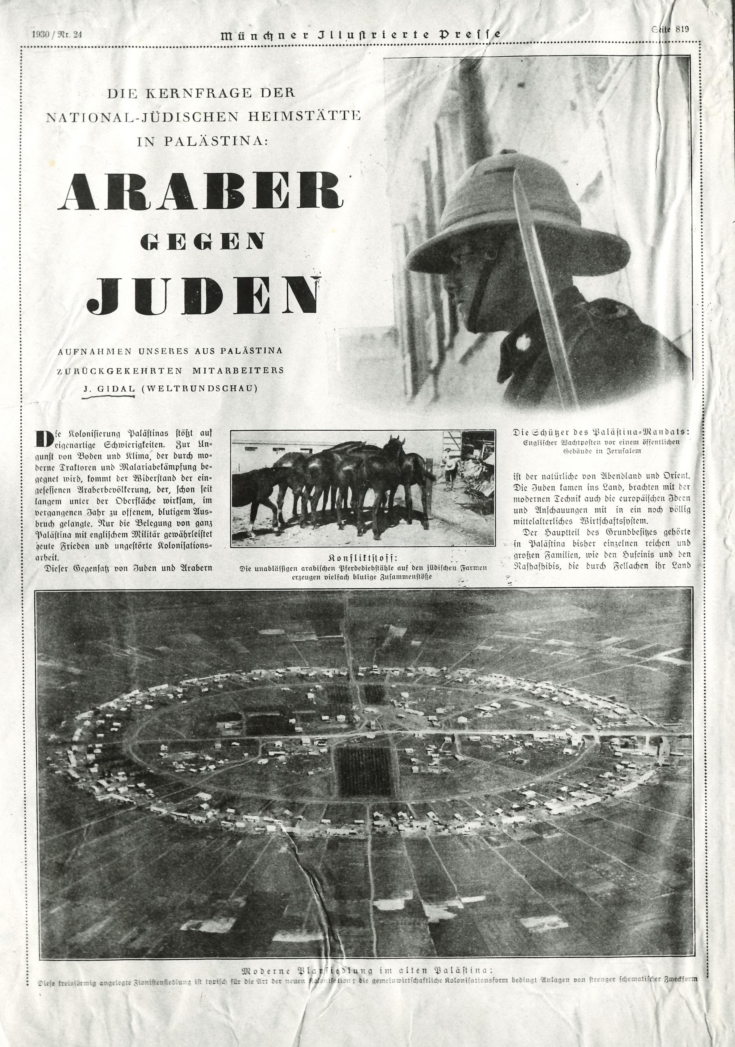 MIP, מונכנר אילוסטרירט פרס, ערבים נגד יהודים