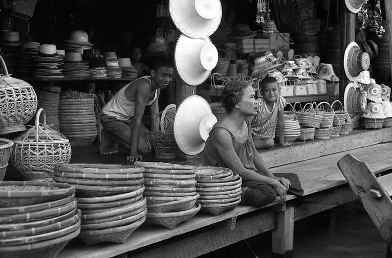Thailand, hats stall