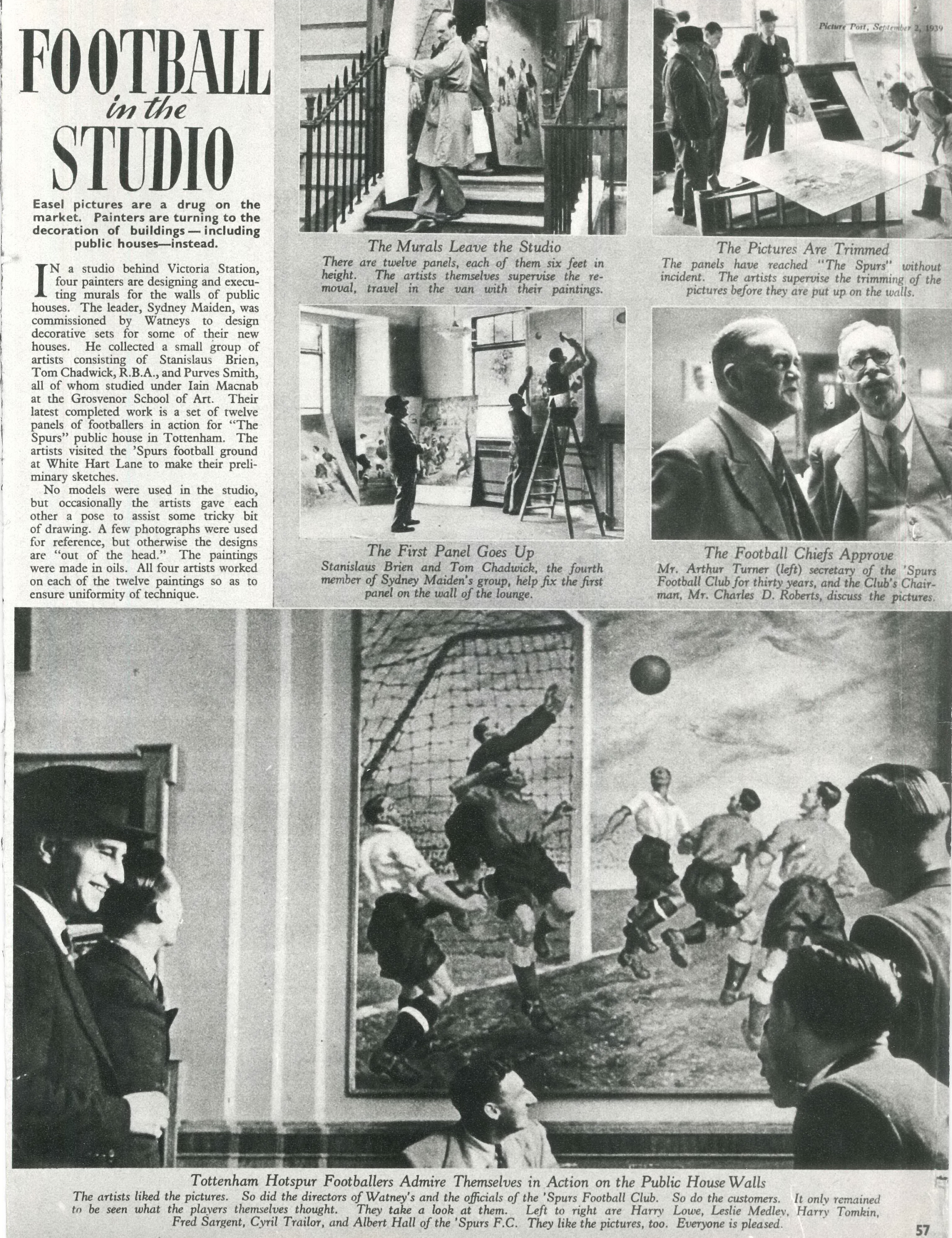 Picture post, Football in the Studio, pp 56-7