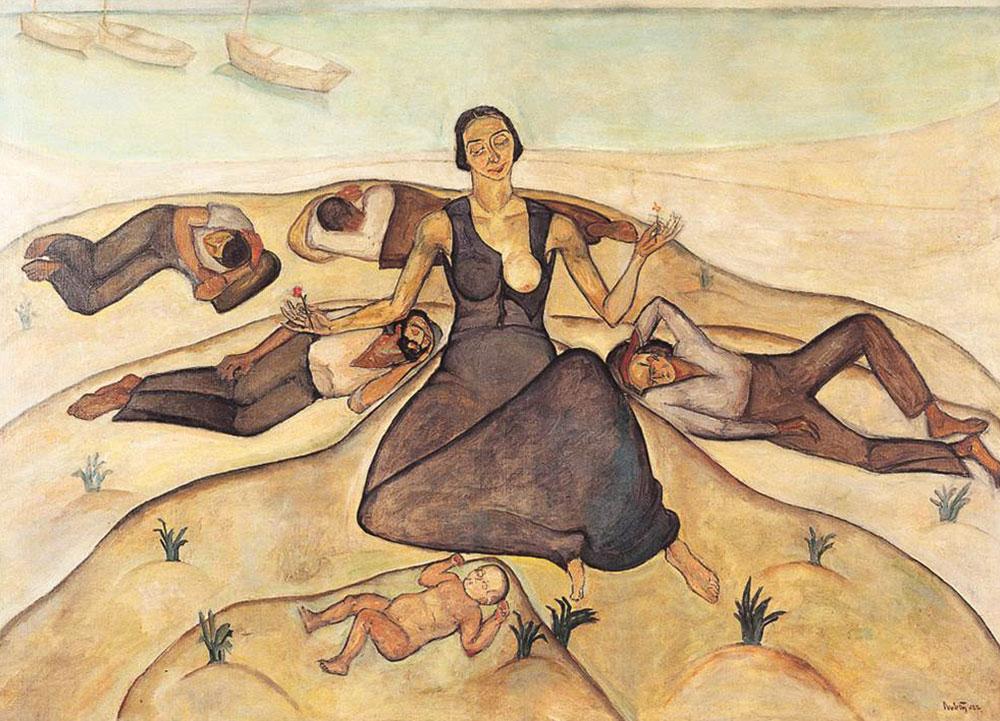 ראובן רובין, ישראלי (יליד רומניה), 1974-1893 המדונה של חסרי הבית, 1922 צבעי-שמן על בד מוזיאון בית ראובן, תל-אביב
